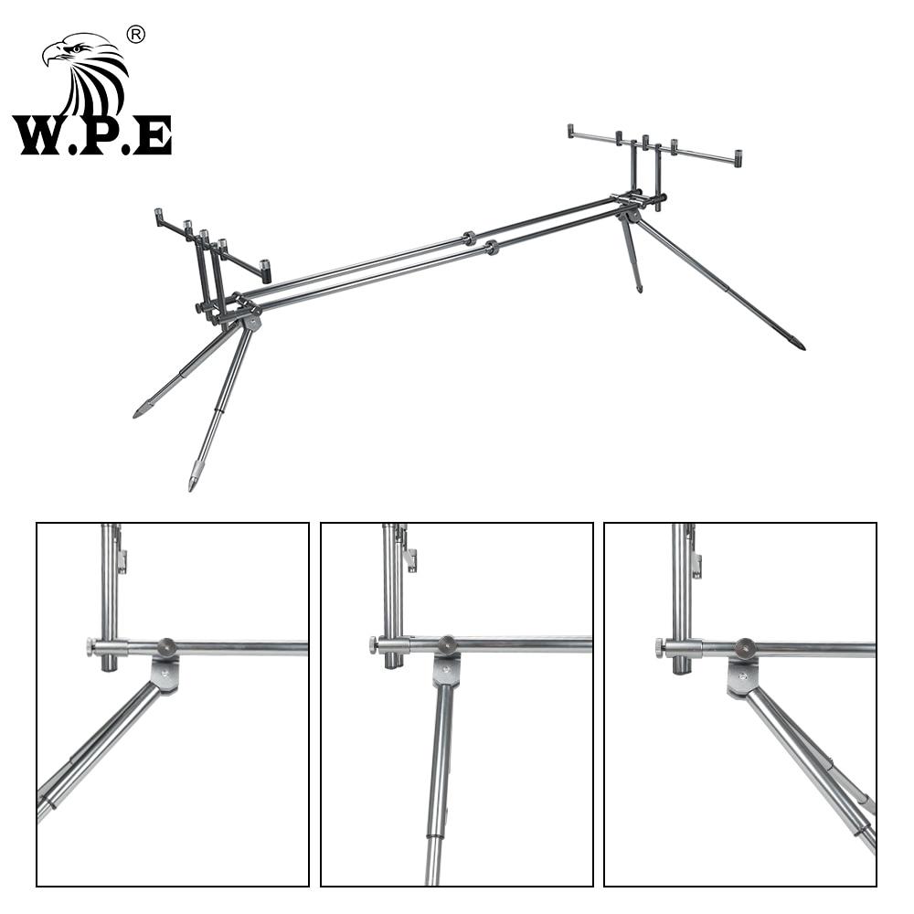 W.P.E Carp Fishing Rod Holder Adjustable Retractable Fishing Pole Telescopic Folding Stand Bracket Fishing Accessories Tackle enlarge