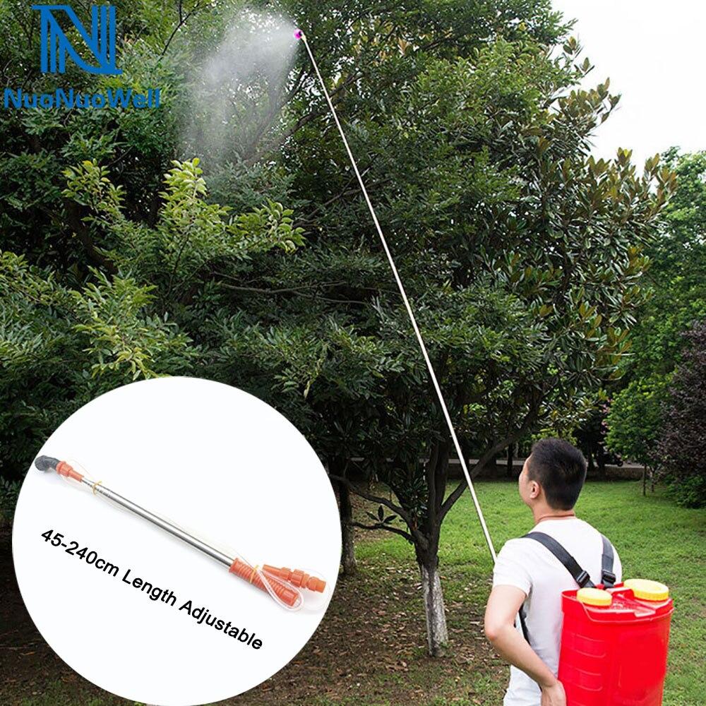NuoNuoWell сельское хозяйство высокого давления 2,4 м пестициды спрей расширение бар Удочка Тип Спрей стержень фруктовое дерево распыление