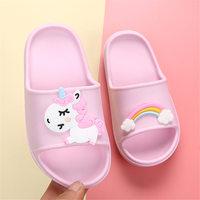 Barefoot Shoes Kids Unicorn Horse Rainbow Cartoon Girls Children Bts Slippers Boys Clog Flip Flop Baby Home Footwear Beach EVA