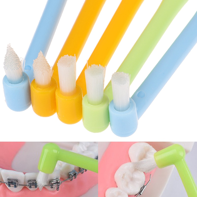 1pc Cleaning Interdental Brush Soft Bristles Orthodontic Braces Toothbrush Dental Floss Care Oral Ca