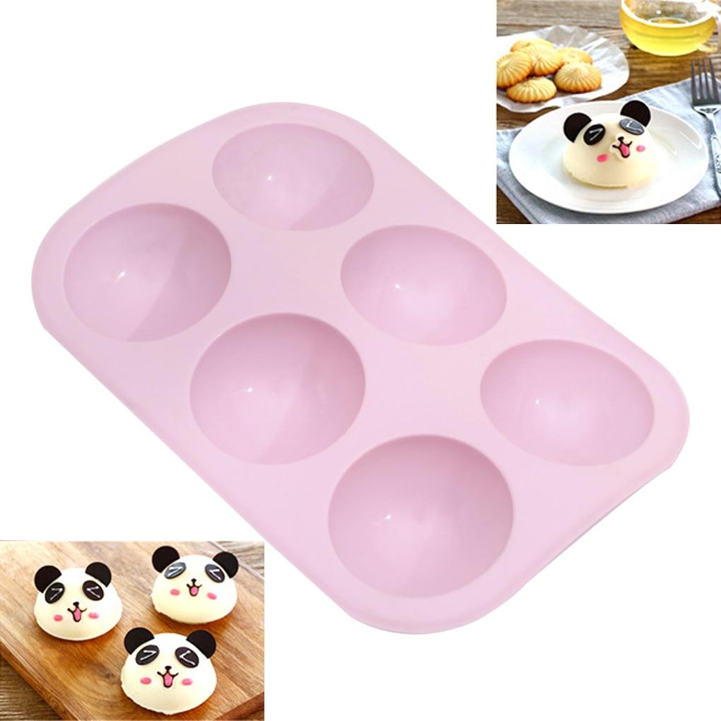 Half-ball Cake Mold Baking Mould Ice Cube Chocolate Fondant Candle DIY Silicone Mold Baking Tray Pink Baking Tools