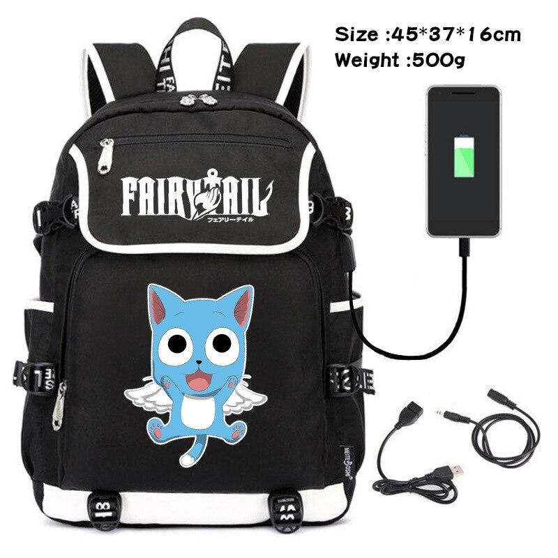 حقيبة ظهر بتصميم الرسوم المتحركة ، حقيبة ظهر للكمبيوتر المحمول مع شاحن USB ، حقيبة كتب للطلاب ، حقيبة مدرسية ، هدية تأثيري