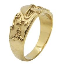Support livraison directe unisexe anneau de crâne 316L en acier inoxydable bijoux anneau de fleur