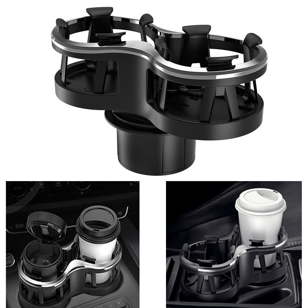 Universal Car Drink Holder Double Hole Beverage Holder Cup Holder Water Bottle Mount Stand Coffee Drinks Holders Car Accessories