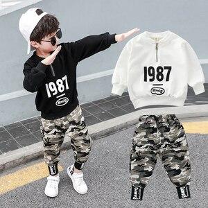 Big Teenager Boys Clothes sets Autumn Winter Hoodies Pants 2pcs Sets Sweatshirts Girls Long Sleeve Lovely Print Clothes Tops