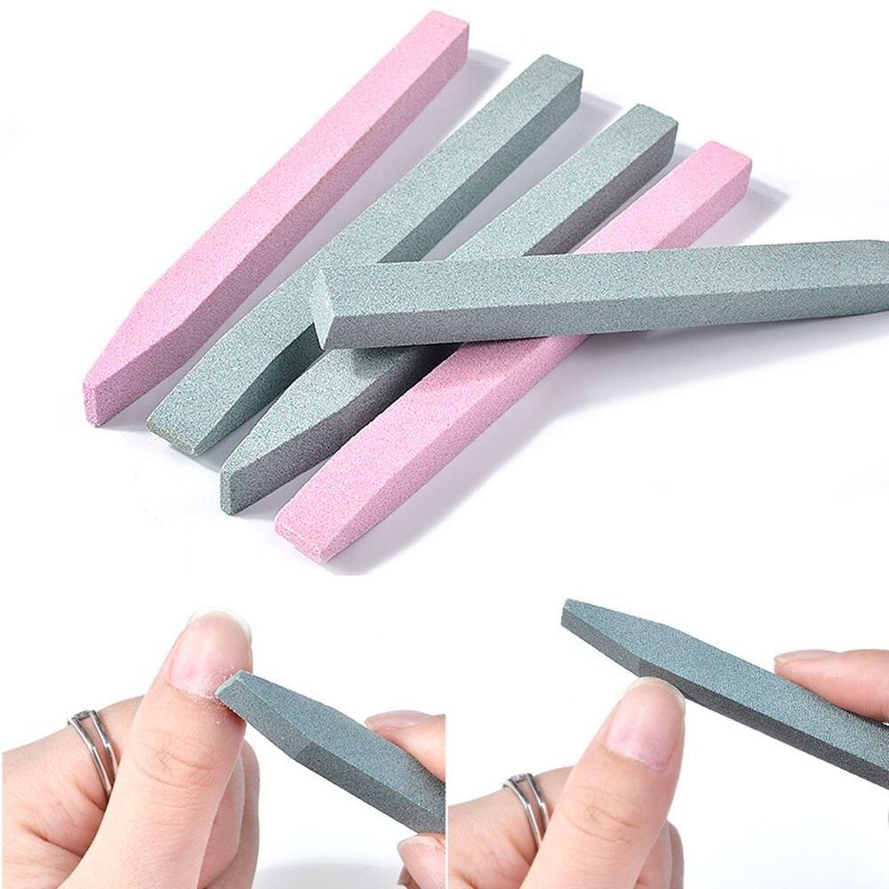 Lima de uñas de cerámica de piedra práctica, removedor de cutículas de piedra pómez, cortador de uñas, tampón, sierras, herramientas de manicura de arte