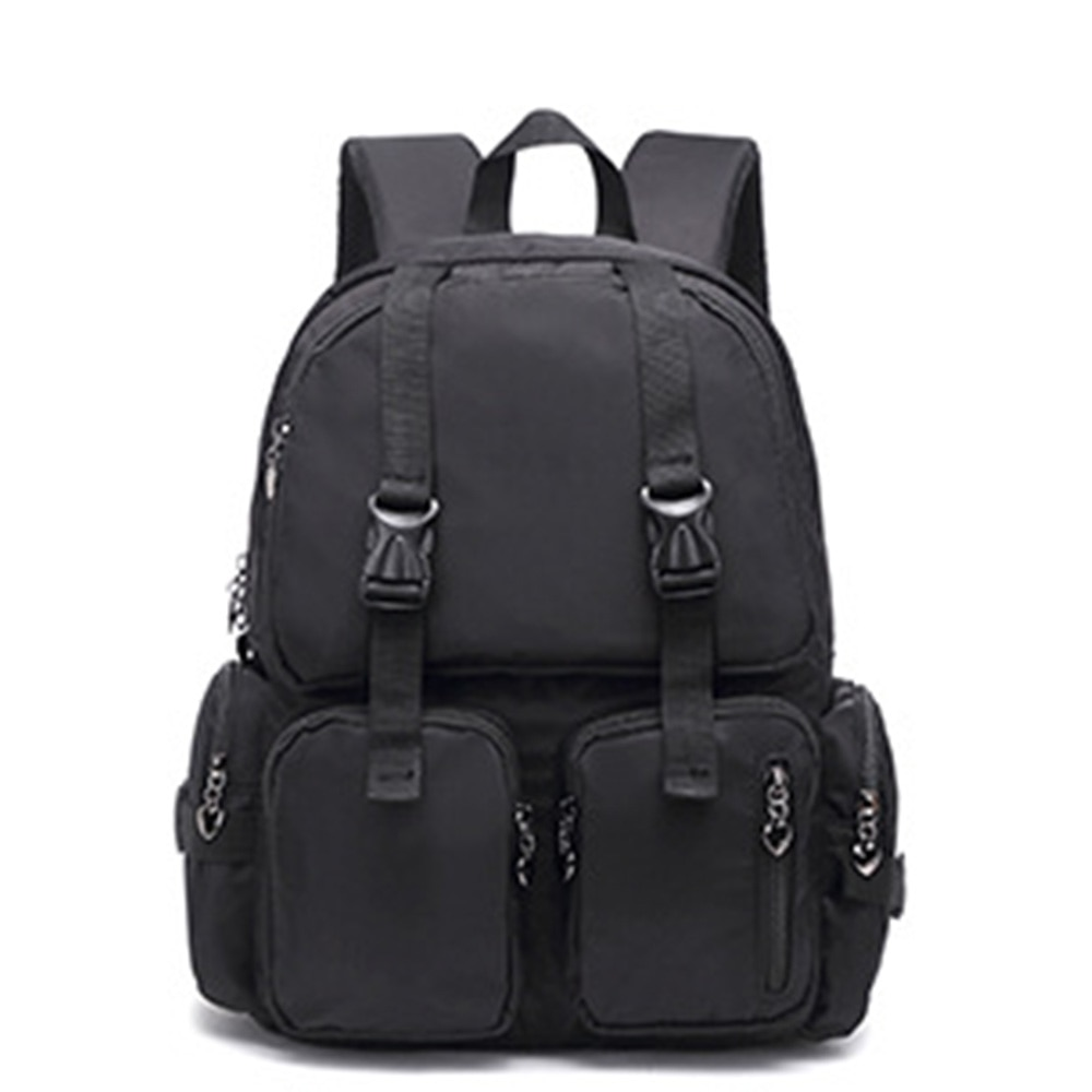 ¡Novedad de 2020! Mochilas escolares de moda para mujer, mochilas de hombro, mochila de viaje, mochila informal de color blanco y negro con cremallera grande para estudiantes