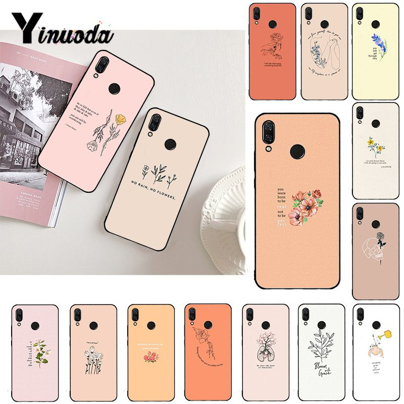 Yinuoda grande estética flor de arte, capa de telefone para xiaomi redmi note 7 8t redmi 5plus 7a 6a note8 4x note8pro