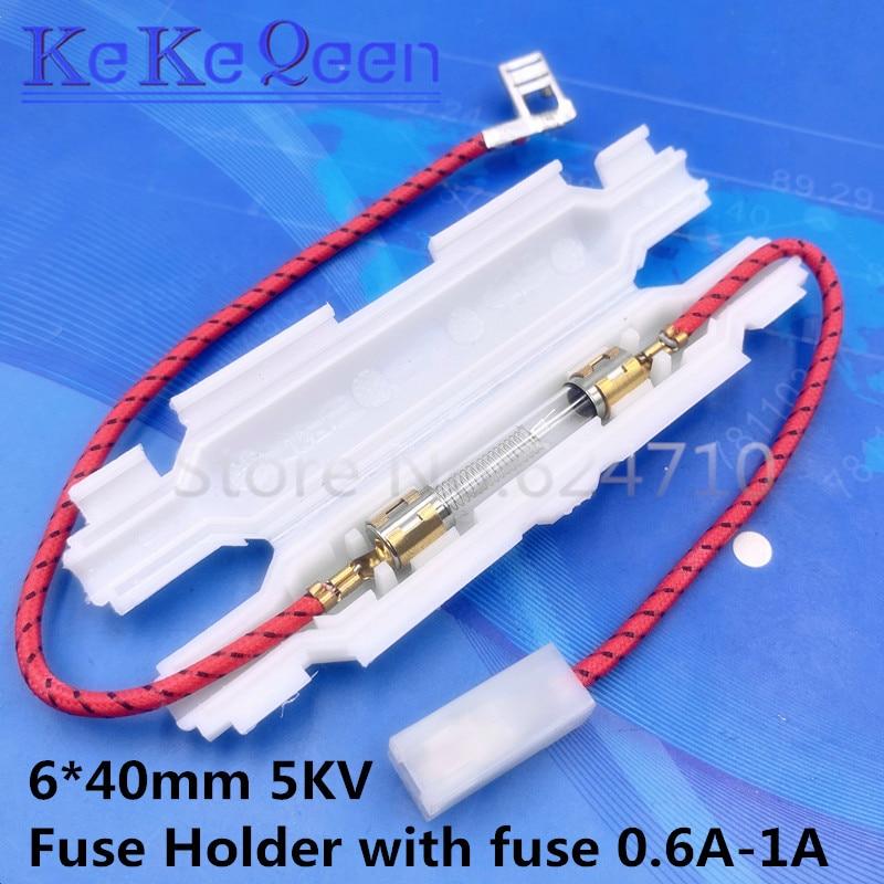 6*40mm 5KV 0,85 A 0,9 A 0,8 A 0,75 A 0,7 A 0,65 A 1A Hohe Spannung sicherung für Mikrowelle Öfen Universal Sicherung Halter Mikrowelle Öfen Teile