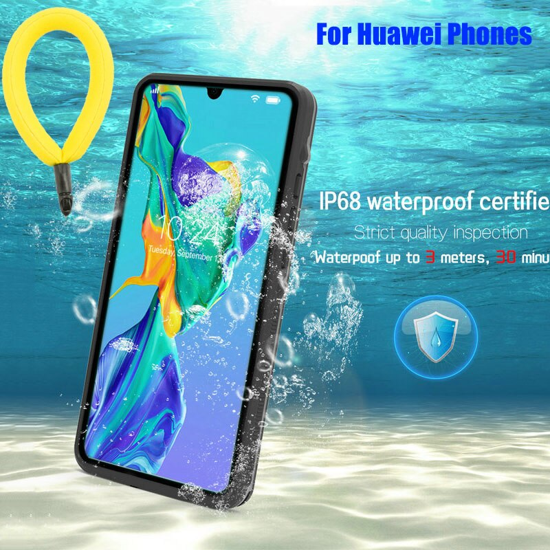 For Huawei Mate 30 Pro P40 P30 P20 Water-proof Shell IP68 Waterproof Cover for Huawei P40 Pro Swim S