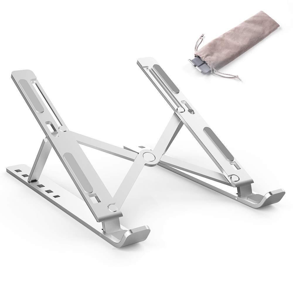Laptop holder portable 6 height adjustable aluminum desk top ventilation radiator, foldable for ultra of 15.6-inch macbook
