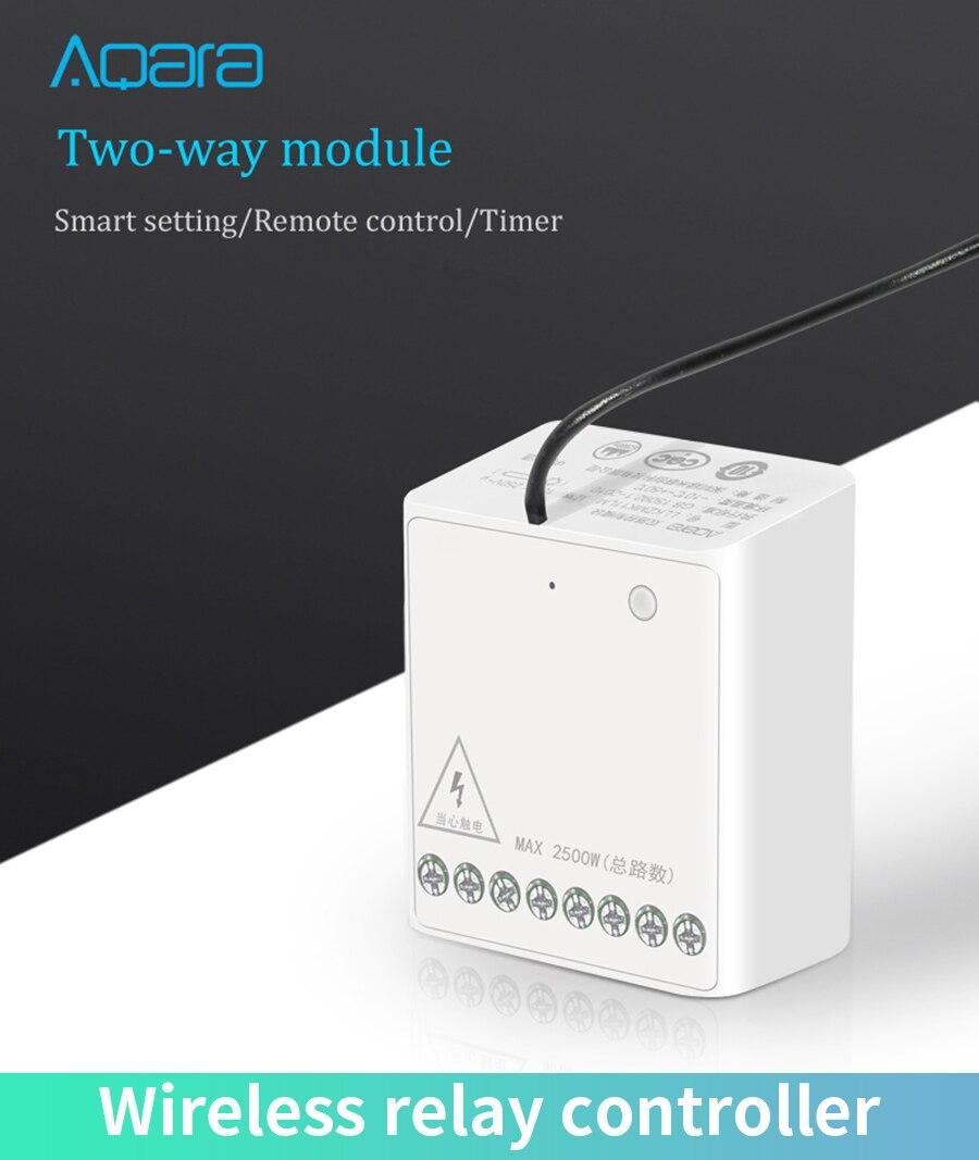 Original Aqara Two-way control module Wireless Relay Controller 2 channels Work For Xiaomi Mijia smart home APP mi home Home kit