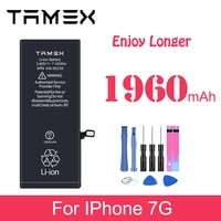battery for iphone7 7g 1960mah real capacity li ion replacement phone battreia with free tools akku