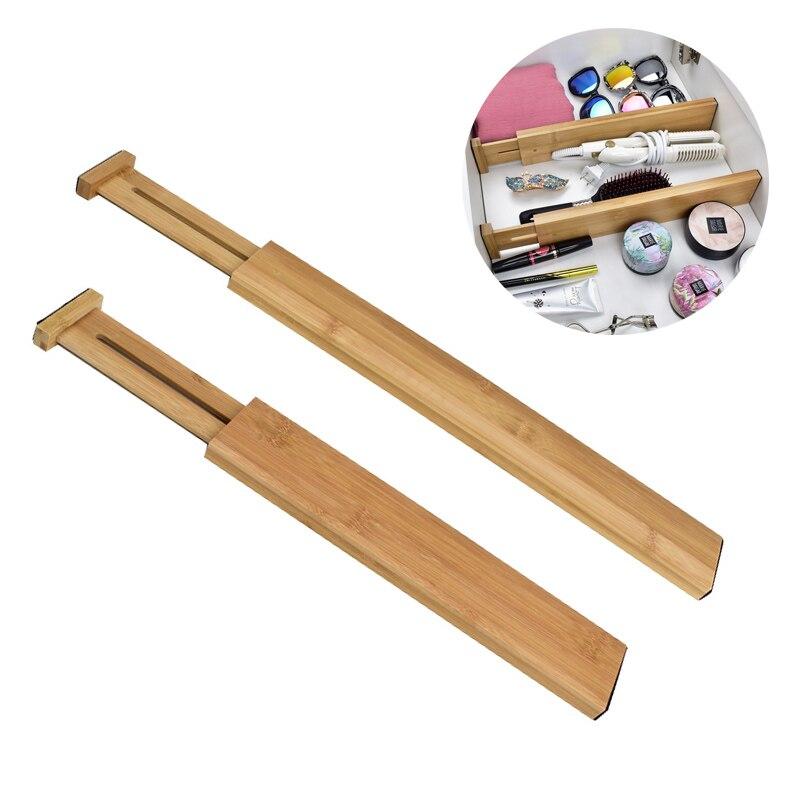 Cajón de bambú, divisor ajustable y desechable, organizador de cajón, dormitorio, organizador de cocina