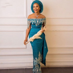 African Prom Dresses Appliques Beading Evening Dress vestido de festa longo 2021 Elegant Long Prom Dresses Off Shoulder