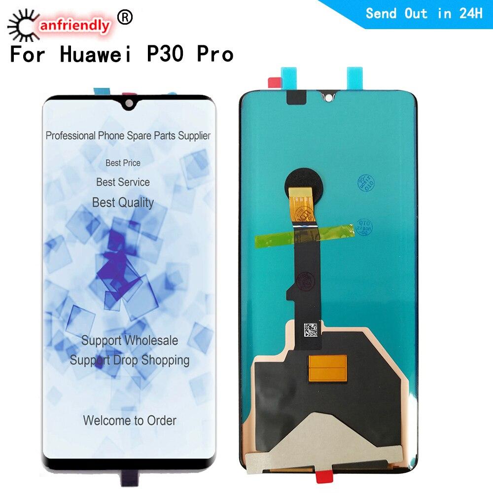 P30pro LCD لهواوي P30 برو VOG-L29 L09 AL00 TL00 L04 AL10 HW-02L LCD عرض لوحة اللمس شاشة الاستشعار محول الأرقام الجمعية