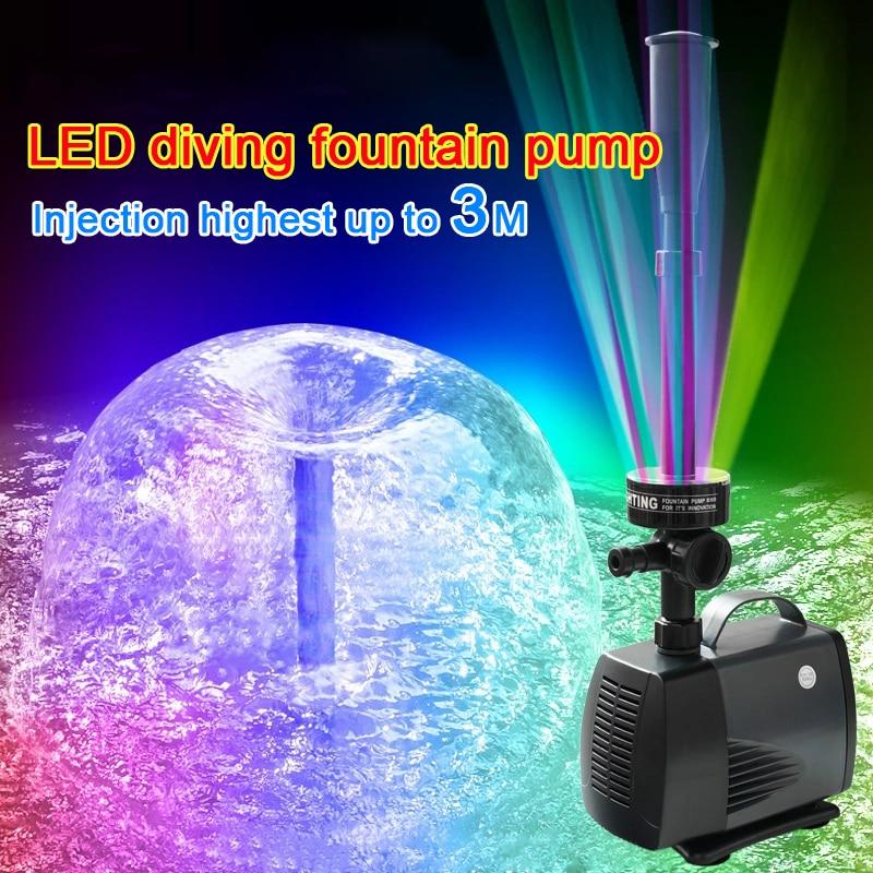 40 W/3500l 45 W/h LED luz intermitente bomba de agua bomba sumergible fuente fabricante de peces estanque jardín piscina