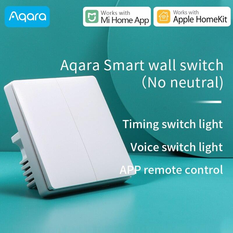 Interruptor de pared Aqara para Xiaomi, interruptor de luz de casa inteligente ZigBee, con clave inalámbrica, funciona para Mi Home HomeKit