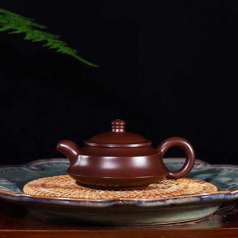 Yixing الأصلي خام الأرجواني الطين إبريق الشاي اليدوية الأرجواني Zhuni Zhoupan Zisha درينكوير الشاي الصينية اليدوية طقم شاي درينكوير