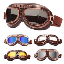2020 lunettes rétro moto casque lunettes Motocross Steampunk WWII pilote ATV Cruiser hors route lunettes lunettes patinage lunettes
