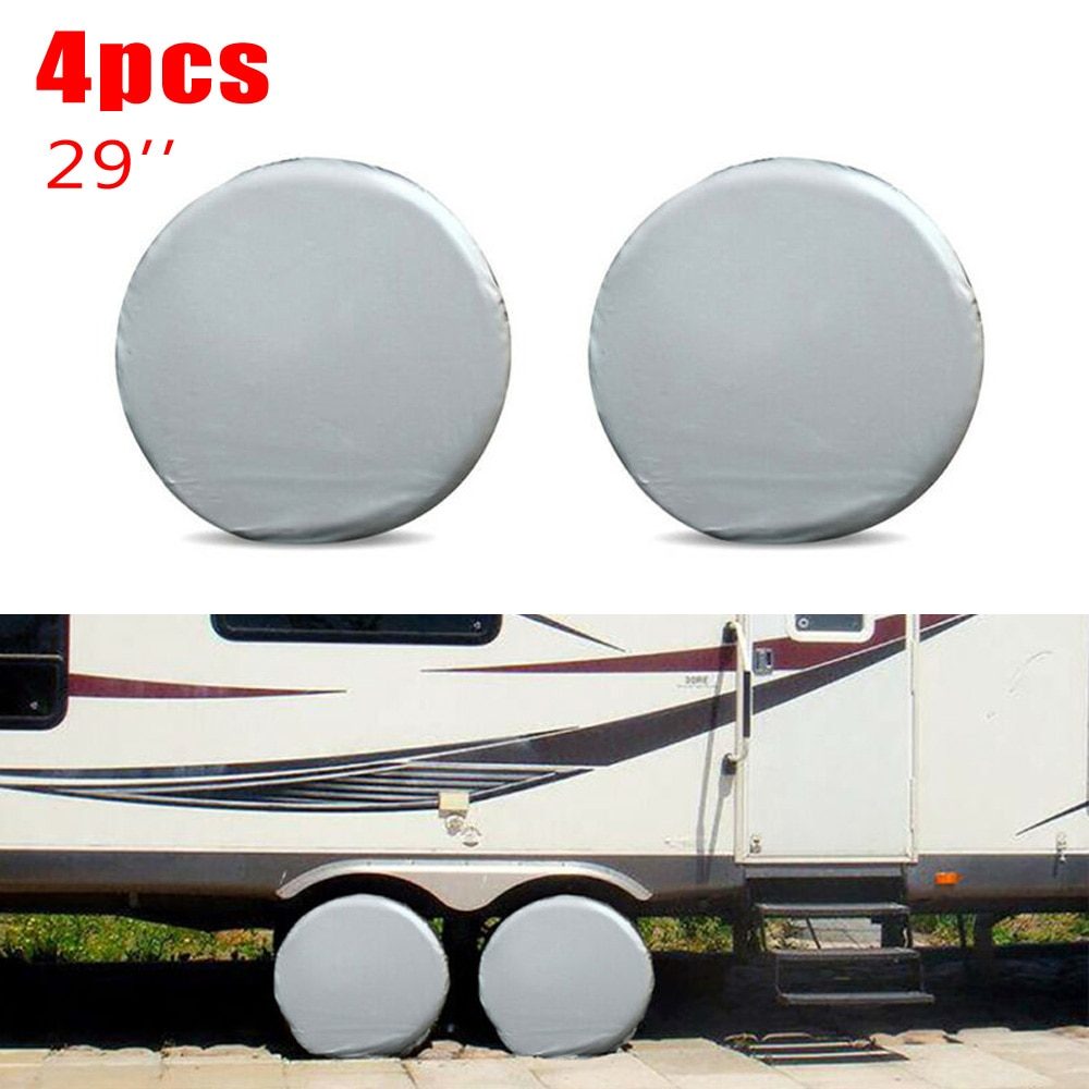 4 Uds. Cubiertas de neumáticos de invierno y verano para RV camión Auto Camper Trailer 29 pulgadas de diámetro accesorios de protección para automóviles