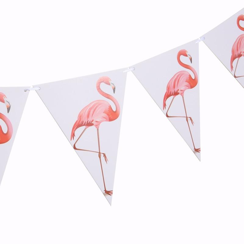 1set Flamingo Papier Flagge Geburtstag Party Bunting Banner Baby Dusche Hochzeit Event Party Wimpel DIY Decor jungle party liefert