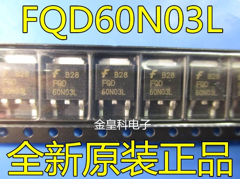 10 unids/lote 60N03L FQD60N03L MOS-252 60N03