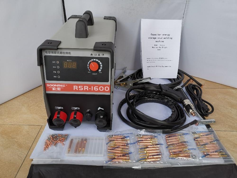 Soudeuse de plaque de goujon de décharge de condensateur de RSR-1600 pour la vis de clou disolation de plat de boulon de soudure
