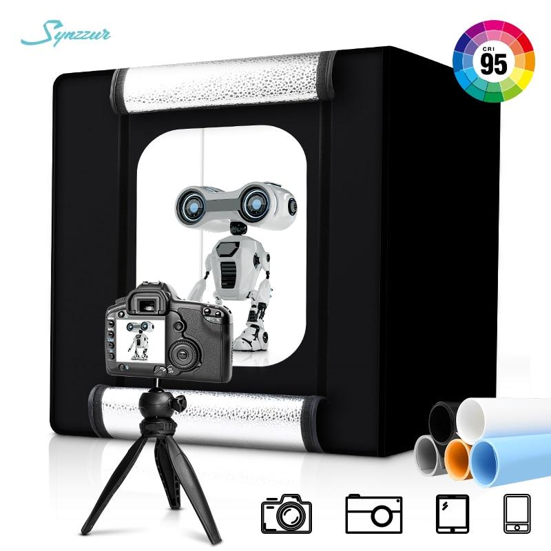 40cm boîte lumineuse Table haut Photo Studio pliable LED 5500K Dimmable Lightbox avec 5 pièces Photo fond papier pour la photographie