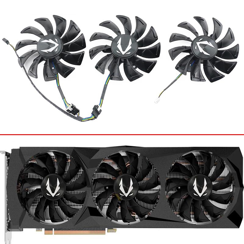 3pcs Original GA92S2U  RTX2080 AMP Edition Video Card Fan For ZOTAC GeForce RTX 2080Ti AMP Edition Graphics card Cooling fans