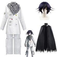 Danganronpa V3 Kokichi Oma Costume Cosplay presidente Zentai Set completo uniformi sciarpa mantello Anime vestiti figura Disfraz Halloween