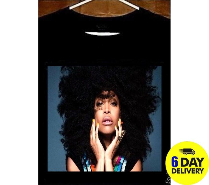 Erykah Badu camiseta Neo Soul Queen Erykah Badu camiseta para ventilador de Erykah Badu