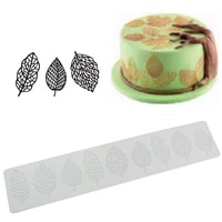 50pcs sugarcraft flower leaf silicone mold fondant mold cake decorating tools chocolate gumpaste mold leaves silicone lace mat