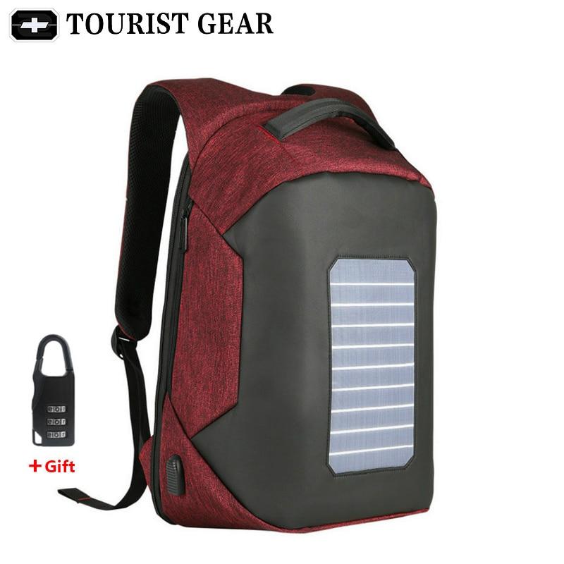 Plecak-mochila de diseño con energía Solar para hombre, morral antirrobo con carga...
