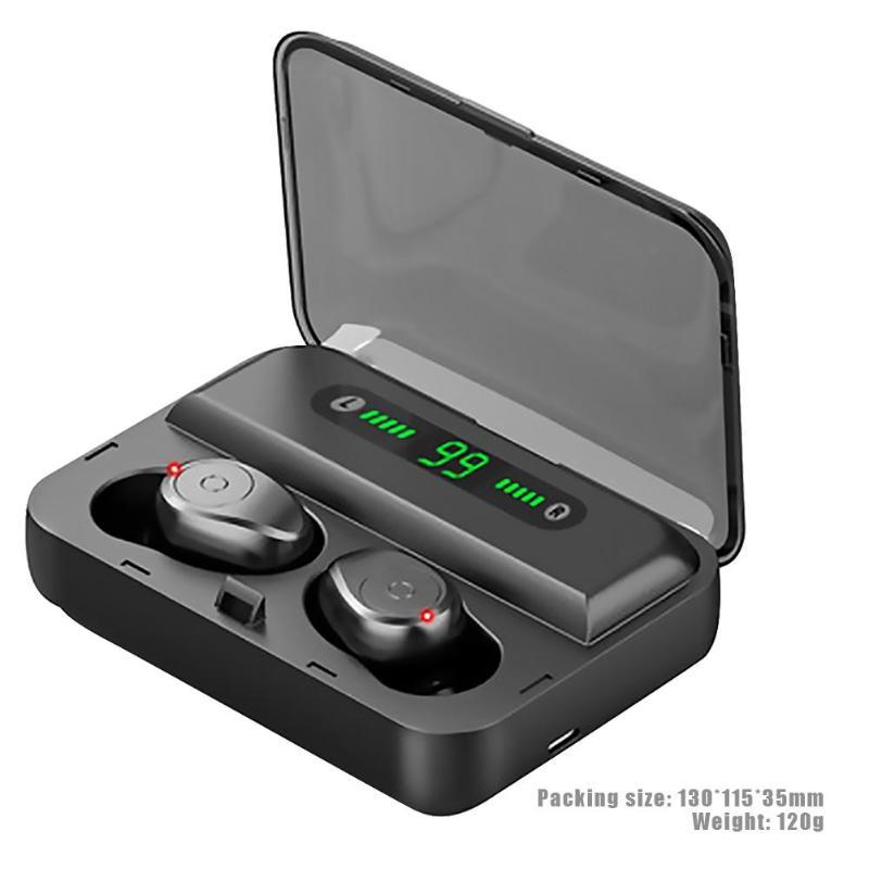 F9-5 TWS auriculares inalámbricos Bluetooth 5,0 auriculares invisibles reloj estéreo LED Cancelación de ruido auriculares IPX7 impermeables para IPHONE