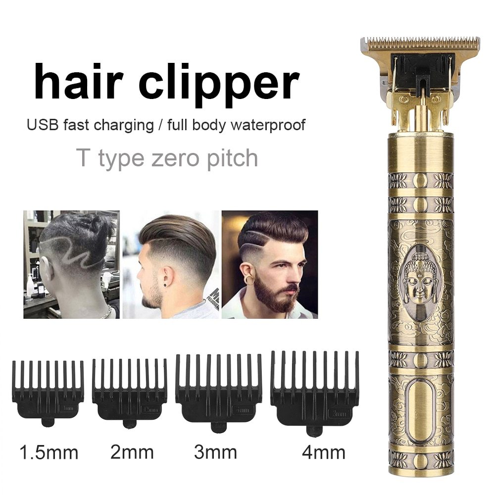 T9 Hair Trimmer Cordless Professional Hair Clipper 0mm Trimmer Shaver Rechargeable Men Barber Dragon Buddha Head Cutting Machine enlarge