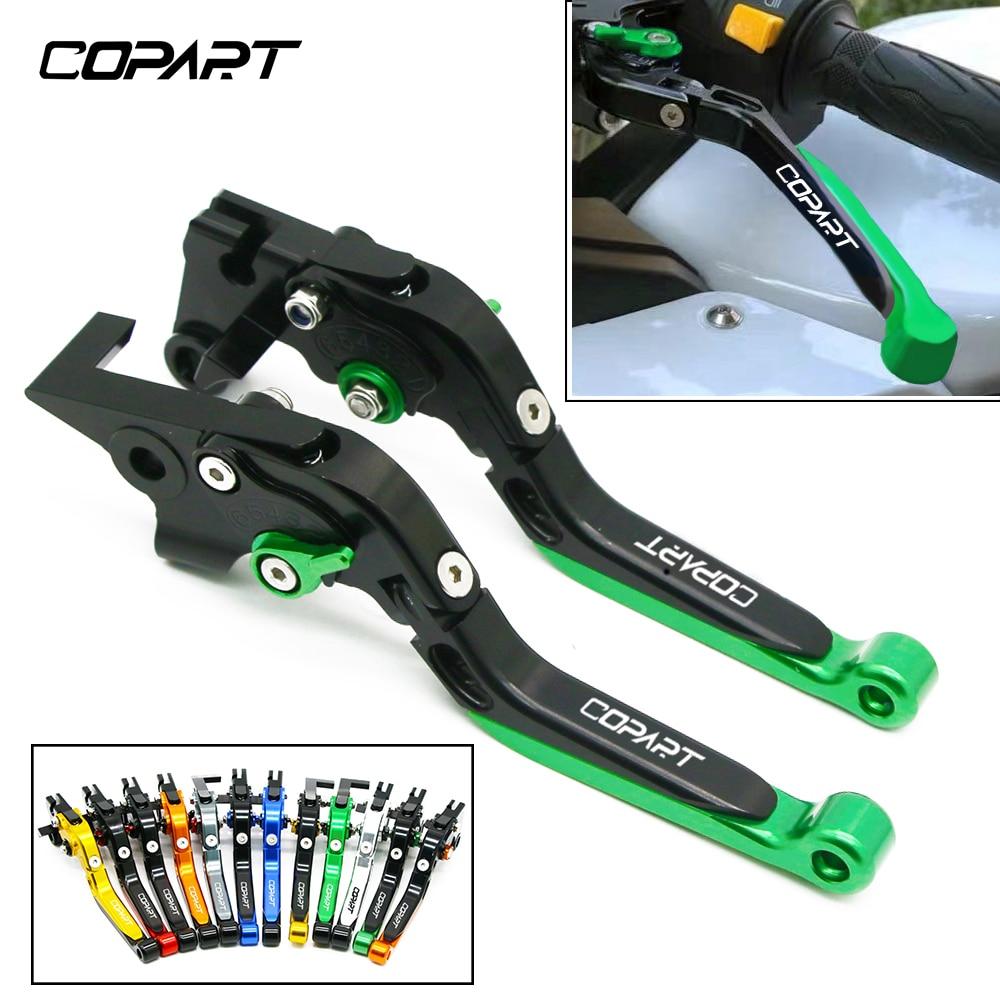 Para Kawasaki Ninja 250R 300R 650R/ER-6F/ER-6N ZX6R/636 accesorios de motocicleta palancas de embrague de freno extensibles plegables ajustables