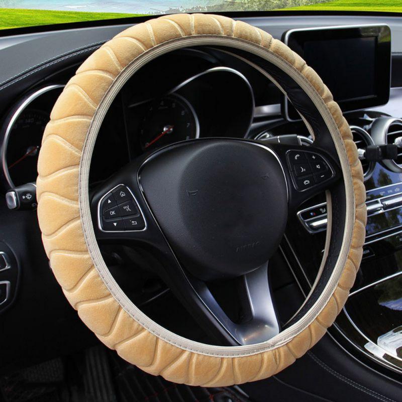 En tres dimensiones de elástico Tipo de protector para volante de coche DIY protector para volante de coche