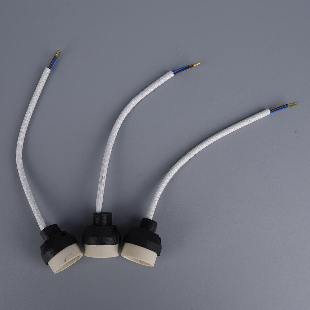 1 Conector base gu10 o GU10, toma de corriente Base halógena, soporte de cerámica, cable de lámpara para bombilla led GU10