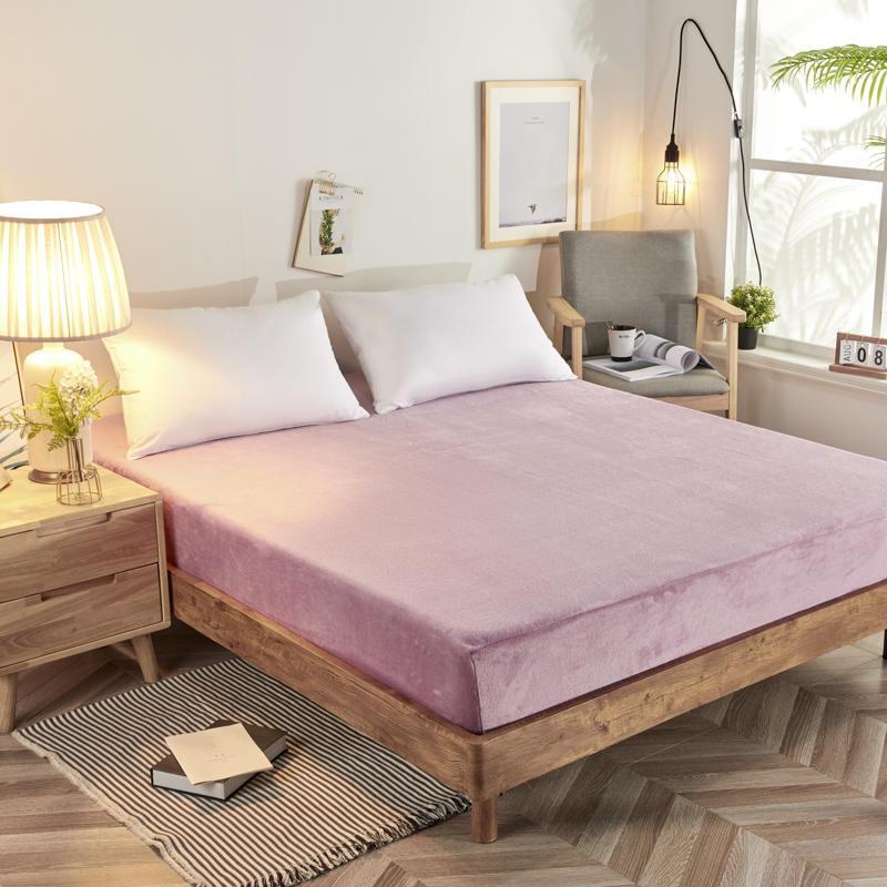 Caliente sábana para el invierno de 200 GSM de cama de franela de tamaño único de lana de Coral de cama de tela suave hoja de tamaño de Reina