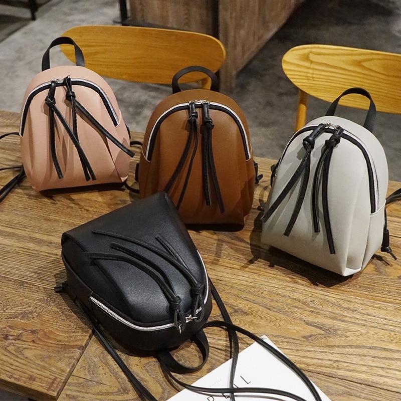 Новинка 2020, женский маленький рюкзак, женская кожаная сумка на плечо, многофункциональные мини рюкзаки, Женский Школьный рюкзак, сумка для девочек-подростков