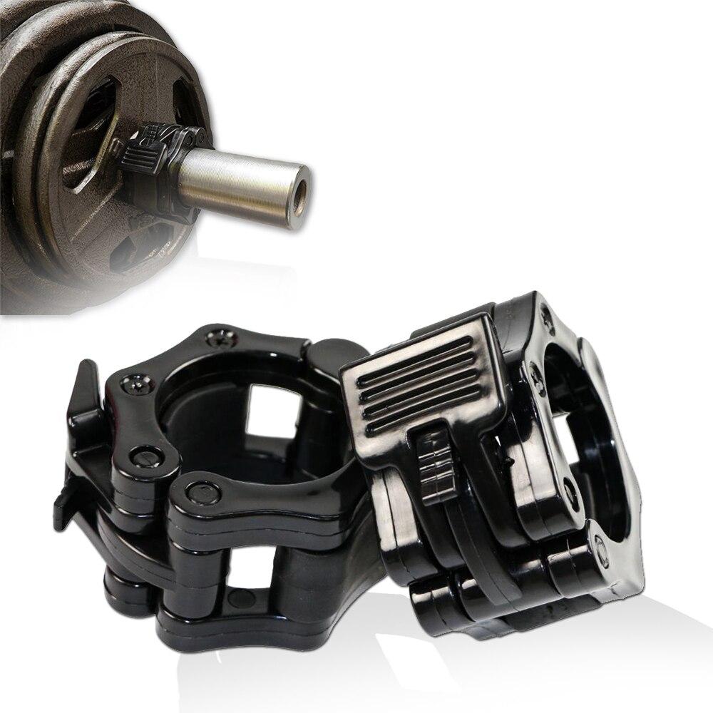 1 пара 25 мм 50 мм зажим для штанги запирающийся воротник Pro штанга для тренировки идеально подходит для тяжелой атлетики гантели фитнес-зал ...