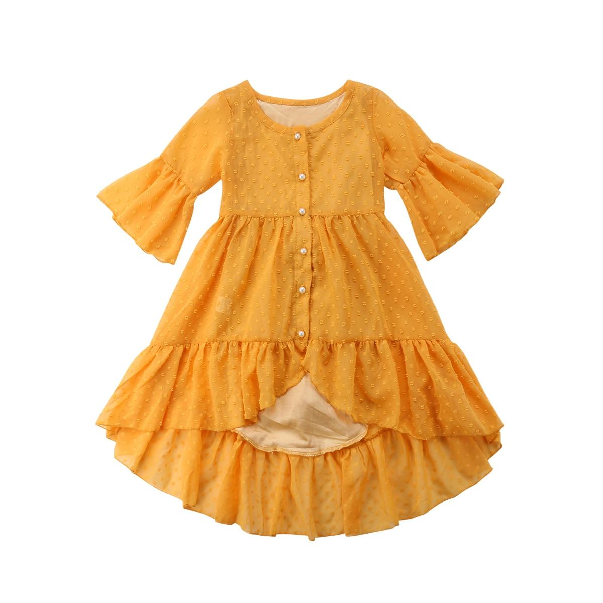 Pudcoco, 1-6T, bebé encantador, flor, niña, Princesa, bebé, niña, vestidos largos, bohemio, volantes, fiesta, graduación, Playa