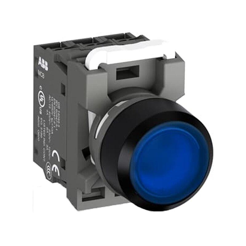 MP1-42L-10 10060147 botão de pressão modular flush-azul-iluminado-plástico preto-1no e bloco de lâmpada mlb1 (sem lâmpada)