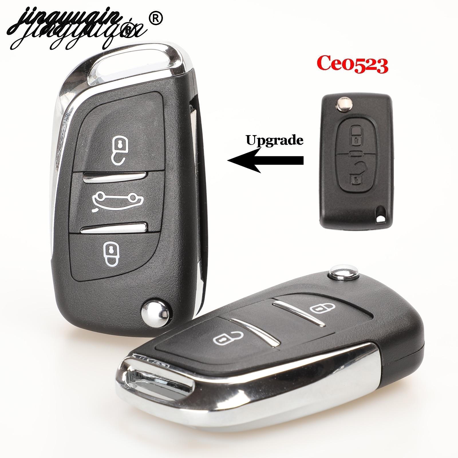 jingyuqin Ce0523 Moodifend remote Car Key Shell for Citroen C5 C4 Coupe VTR C6 C8 C2 Berlingo Xsara Picasso CE0523 VA2/HU83 2/3B