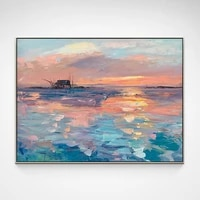 landscape oil painting custom sunrise dining room decoration painting for door porch painting living room hanging painting decor