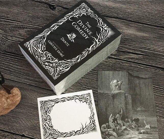 Божественная комедия супер крутая бумажная Закладка почтовые машины упаковка 96 дизайн карты Смешанные Бесплатная доставка