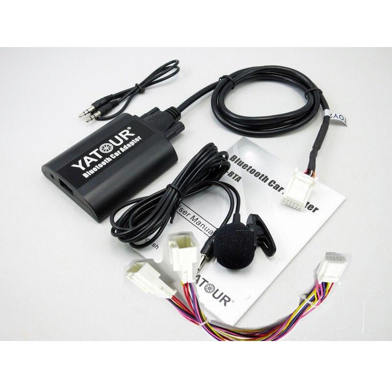 Yatour bta áudio do carro bluetooth aux mp3 interfaces para lexus rx300 es300 gs430 gx470 ls460 sc430 com adaptador de cabo y