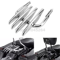 chrome motorcycle iron detachable stealth luggage rack for harley electra street glide road king flhx flht 1999 2008