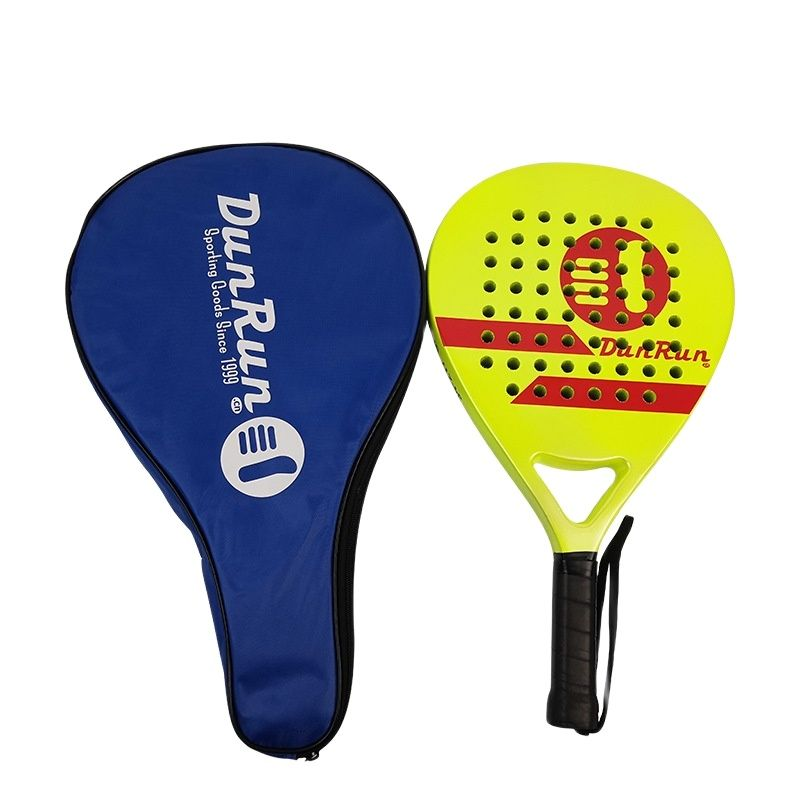 Paddle Beach Tennis Racket Carbon Fiber Enlarge The Noodles Shock Absorption Anti-slip Handle Leather Outdoor Sports Equipment
